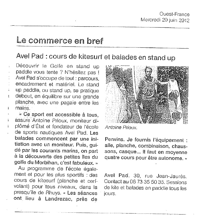 Article Ouets France